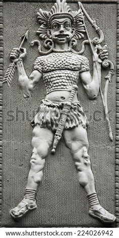 god of war in the ancient religions of the East - stock photo