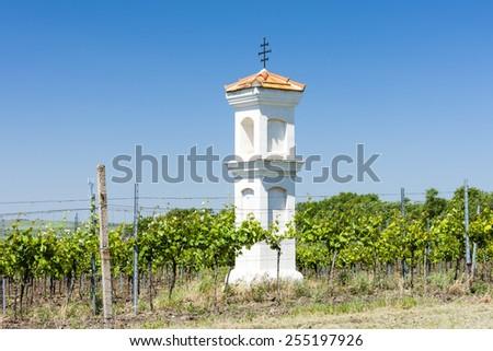 God's torture with vineyard, Palava, Czech Republic - stock photo
