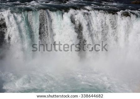 Godafoss Waterfall. Iceland - stock photo