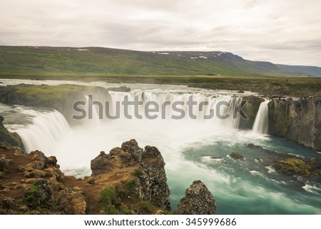 Godafoss-Waterfall of Gods in north Iceland