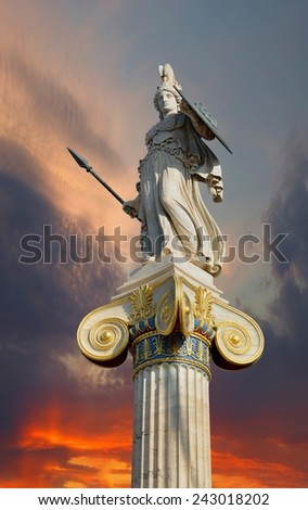 Goddess Athena - stock photo