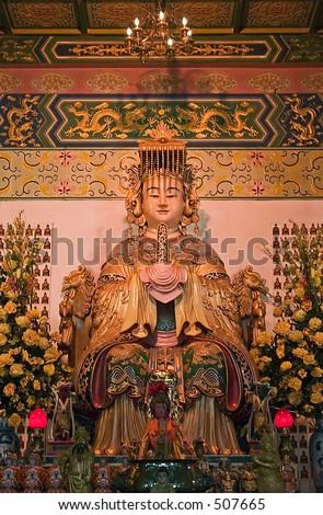 Goddess Thean Hou Statue - stock photo