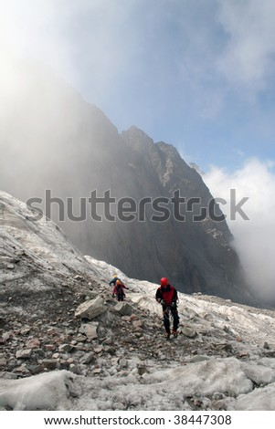 Going down from an ascent. - stock photo