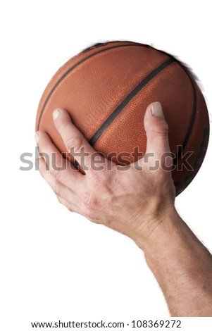 going for dunk - stock photo