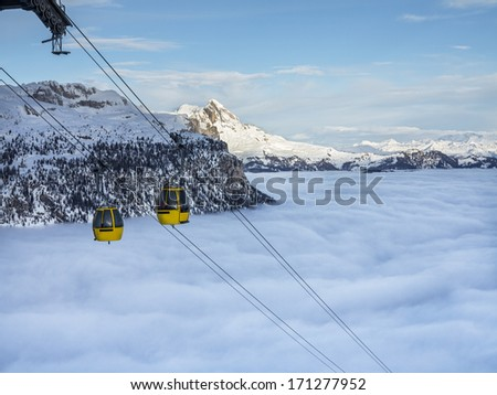 Going to the top - stock photo