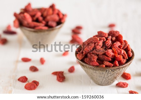 Goji berries are considered one of the superfoods - stock photo