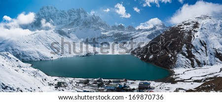 Gokyo and Gokyo Lake, Himalaya, Nepal - stock photo