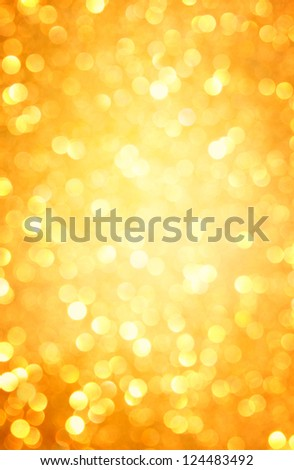 gold abstract background with bokeh defocused lights - stock photo