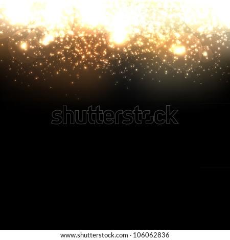 Gold Abstract Dark Elegant Background - stock photo