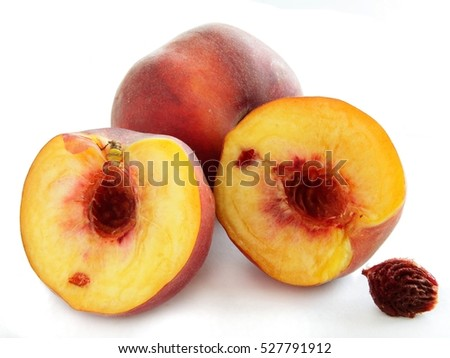 gold and red,juicy peach fruit