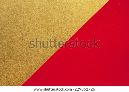 Gold and red of the Japanese paper - stock photo