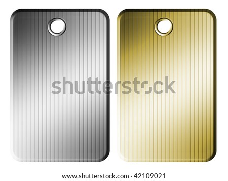 Gold and silver sheet over white background