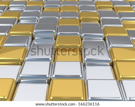 gold and silver surface