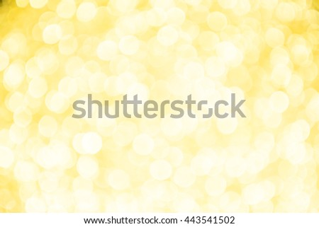 Gold and yellow Christmas Glittering background. Holiday abstract texture Festive background with defocused Golden bokeh - stock photo