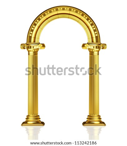 Gold arch - stock photo