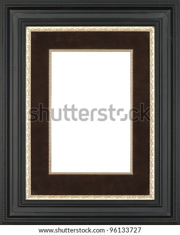 Gold art picture frame - stock photo
