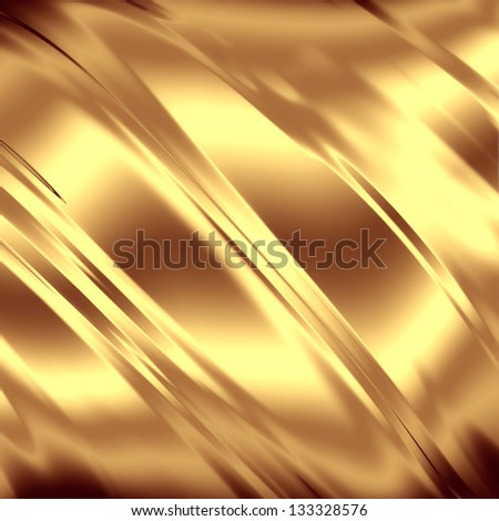 Gold artistic texture - stock photo