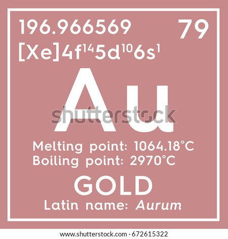 Gold aurum transition metals chemical element stock illustration gold aurum transition metals chemical element of mendeleevs periodic table gold in urtaz Image collections