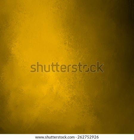gold background with black shadows and vintage texture - stock photo