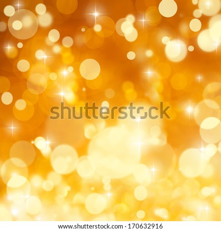 Gold background with lights