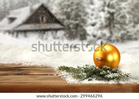 gold ball  - stock photo