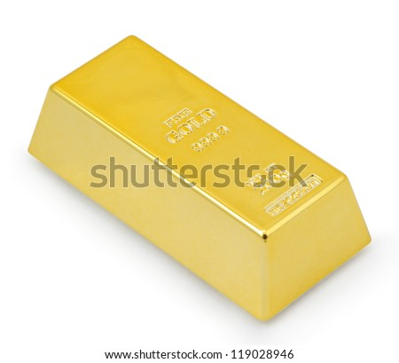 Gold bar. - stock photo