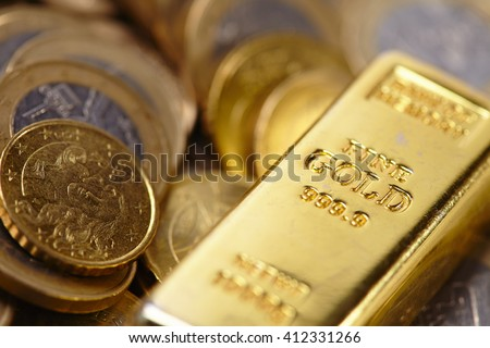 gold bar concept - stock photo
