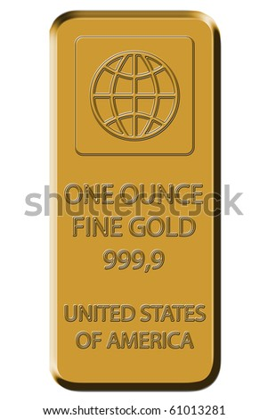 Gold Bar - Fine Gold 999,9 - stock photo