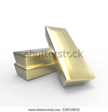 Gold bars 3d concept - stock photo