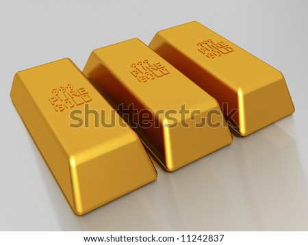 Gold bars of 999 pure gold bullion