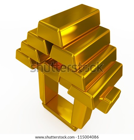 gold bars structure