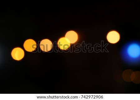 Gold bokeh abstract light backgrounds. Gold bokeh abstract light restaurant.