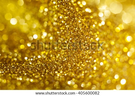 Gold bokeh holiday abstract background - stock photo