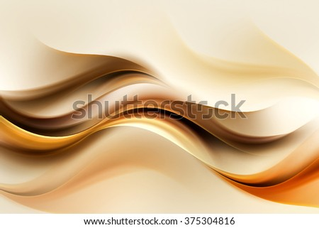 Gold Brown Wave Design Abstract Background - stock photo