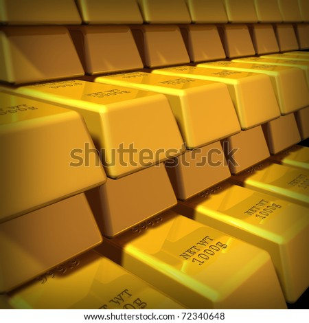 Gold Bullion Group Representing Commodities Trading Stock