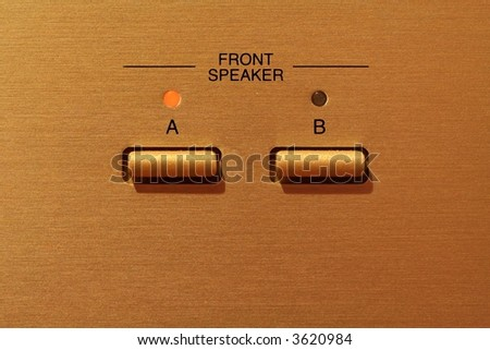 Gold buttons - switch - stock photo