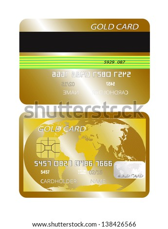 gold card on a white background