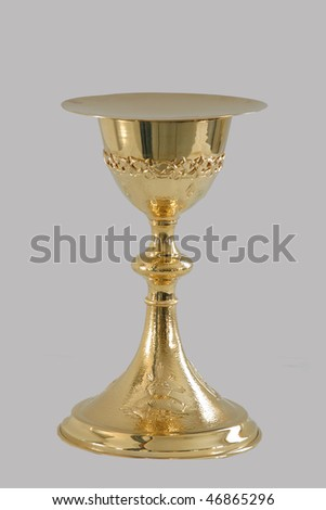 Gold chalice - stock photo