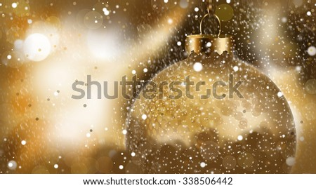 Gold Christmas Bauble - stock photo