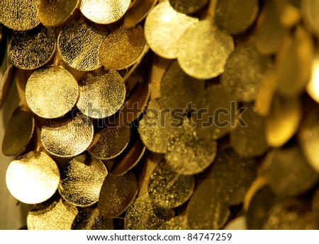 gold circles - stock photo
