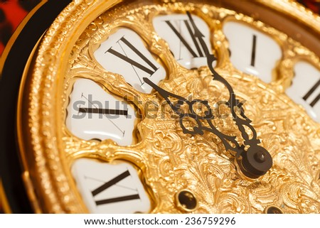 gold clock - stock photo