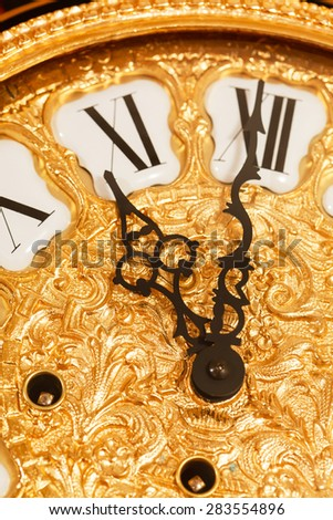 gold clock - stock photo