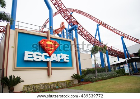 GOLD COAST, AUS - June 05 2016:Animated cartoon characters in Movie World Gold Coast Queensland Australia.The park opened in 1991 and contains various movie-themed rides and attractions