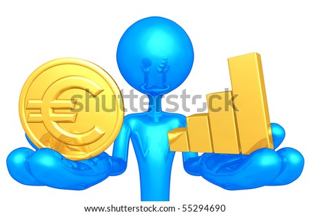 Gold Coin and Bar Graph - stock photo