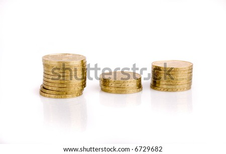 gold coin on a white background