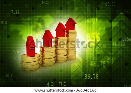 Gold coins - stock photo