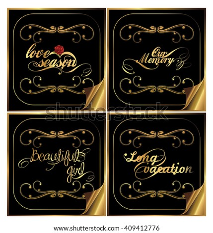 Gold color series collection - stock photo