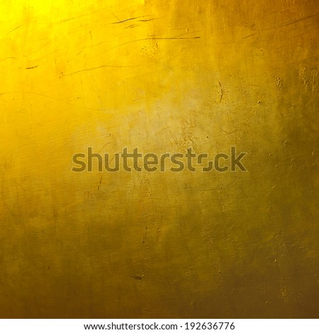 Gold colored wallpaper - stock photo