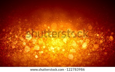 Gold colour bokeh abstract light background. Illustration - stock photo