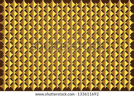 Gold crosses medieval golden brown regularly distributed over the surface - stock photo
